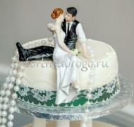 Торты свадебные 1 ярус # 54