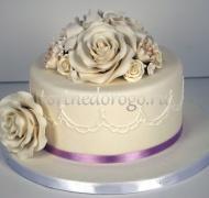 Торты свадебные 1 ярус # 27