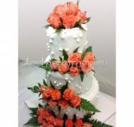 Торт свадебный 3 яруса # Элегант