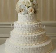 Торт свадебный 4 яруса № 13