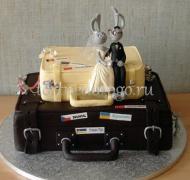 Прикольные торты на свадьбу # 29