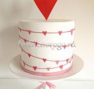 Торты свадебные 1 ярус # 29