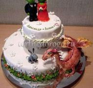 Прикольные торты на свадьбу # 7