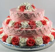 Торт без мастики # Торт с розами