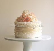 Торты свадебные 1 ярус # 19