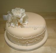 Торты свадебные 1 ярус # 30
