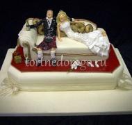 Прикольные торты на свадьбу # 21