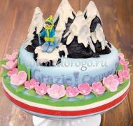 Прикольные торты на день рождения # Горнолыжный курорт