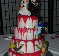 Прикольные торты на свадьбу # 23