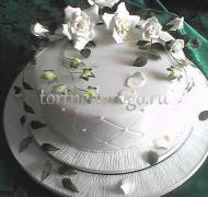 Торты свадебные 1 ярус # 12