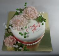 Торт для жены #  Розовые пионы