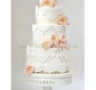 Торт свадебный 3 яруса # Белые ночи