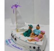 Прикольные торты на день рождения # Яхта