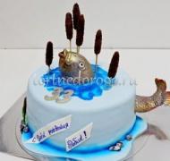 Прикольные торты на день рождения # Рыба в камышах
