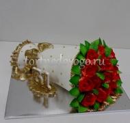 Прикольные торты на день рождения # Букет красных роз