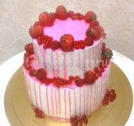 Торт свадебный  ярус # Малиновая вечность