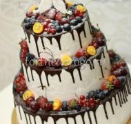 Торт свадебный 3 яруса # Шоколодное настроение