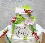 Торт свадебный 3 яруса # Зеленое счастье