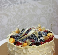 Торт свадебный 1 ярус # Ягодная романтика