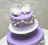 Заказать торт свадебный - Лебеди