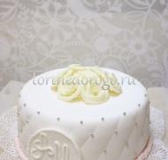 Торт свадебный 1 ярус # Жемчужина