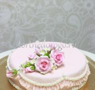 Торт свадебный 1 ярус # Нежность