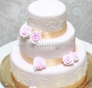 Торт свадебный 3 яруса # Изящество
