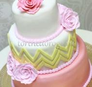 Торт свадебный 3 яруса # Удивительная встреча