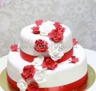 Заказать торт свадебный - Роза