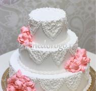 Торт свадебный 3 яруса # Поцелуй нежности