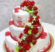 Торт свадебный 3 яруса # Страсть