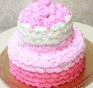 Торт свадебный  ярус # Розовые сливки