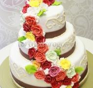 Торт свадебный 3 яруса # Лада