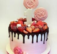 Торт детский цифра # Веселые цифры с ягодами