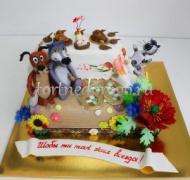 Прикольные торты на день рождения # Пес и волк