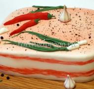 Торт для мужа # Сало