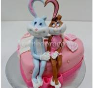 Прикольные торты на день рождения # Багз Банни зайцы