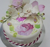 Прикольные торты на день рождения # Орхидея