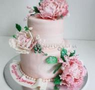 Прикольные торты на день рождения # Пионы нежность