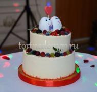 Заказать торт свадебный - Влюбленные
