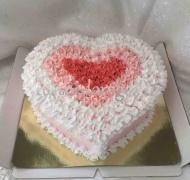 Торт без мастики # Сердечко