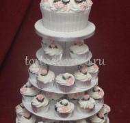 Торты с капкейками и мини пирожными