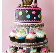 Торты с капкейками и мини пирожными # 2