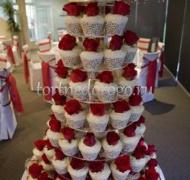 Торты с капкейками и мини пирожными # 3