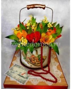 Торты на 8 марта - Тюльпаны